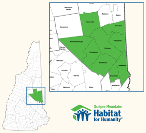 Towns served by Ossipee Mountains Habitat for Humanity